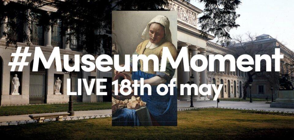 Locandina di #MuseumMoment, live il 18 di maggio 2021.