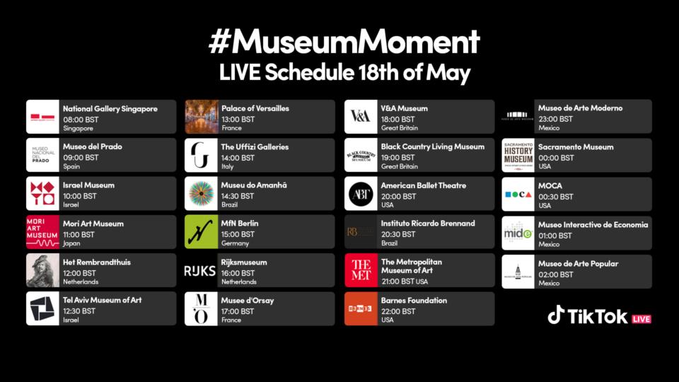 Programma del #MuseumMoment.