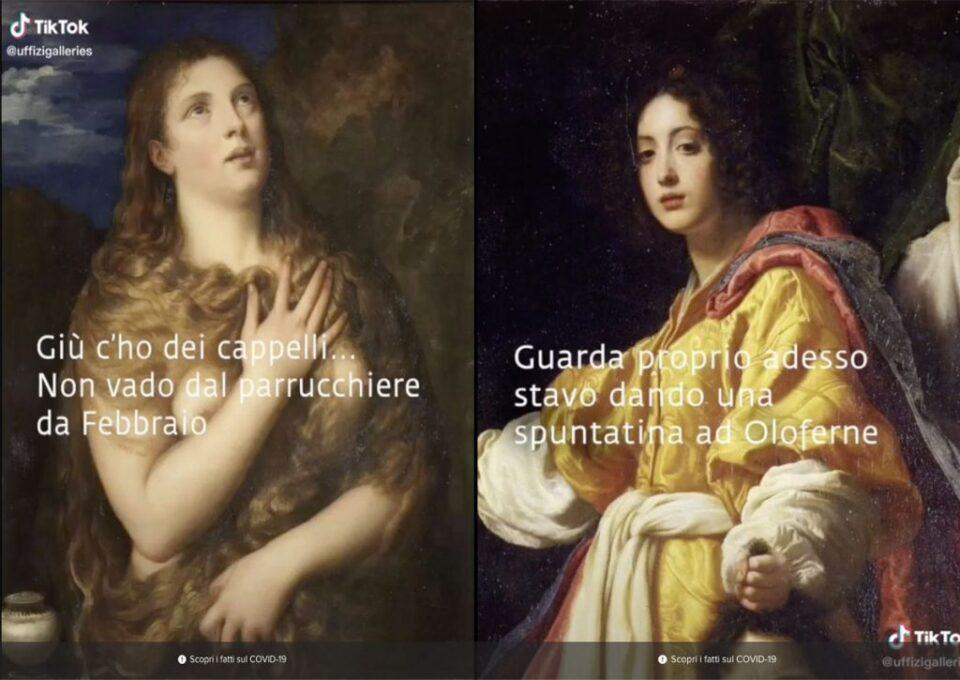 Estratti dal canale TikTok degli Uffizi.
